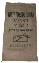 """Jute zak """"White Cristal Sugar"""" 3 stuks"""