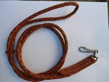 Keycord - Pistolcord leder bruin, origineel