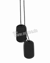 Dog Tag US zwart set