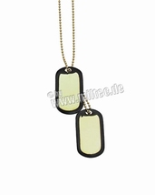 "Dog Tag US ""goud"" set"