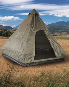 """Tipi Pyramidetent Olive 4 persoons """"Tipi"""""""
