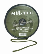Touw groen 60 meter of coyote 5 mm Rol 70 meter