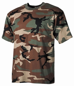 US Camouflage Woodland T-shirt van Top kwaliteit !