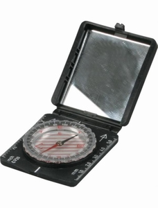 Kaart kompas met spiegel