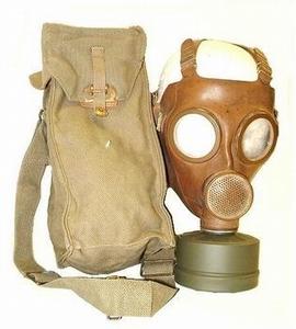 Belgisch gasmasker inclusief tas