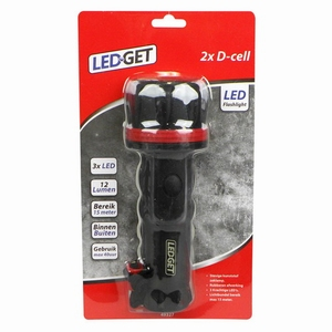 LEDGET Zaklamp LED Medium 2x D