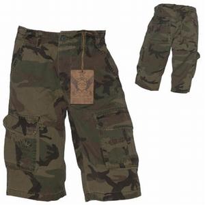 Korte broek stone washed Patton camouflage OP=OP