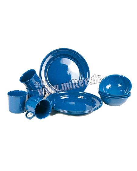 Emaille set blue, 12 delig
