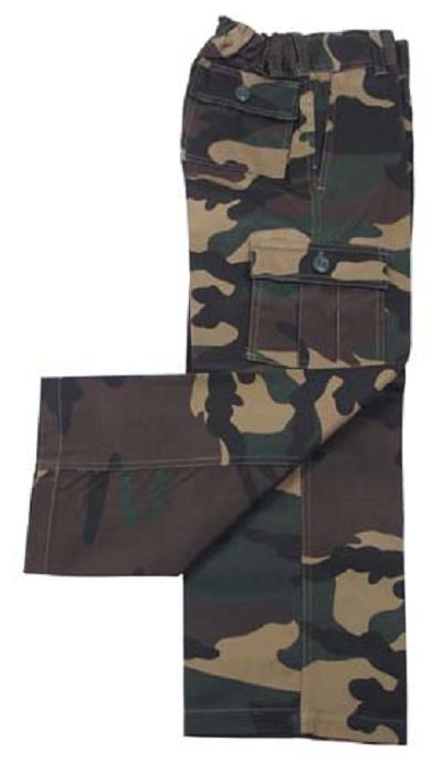 Kinder broek woodland camouflage Deluxe