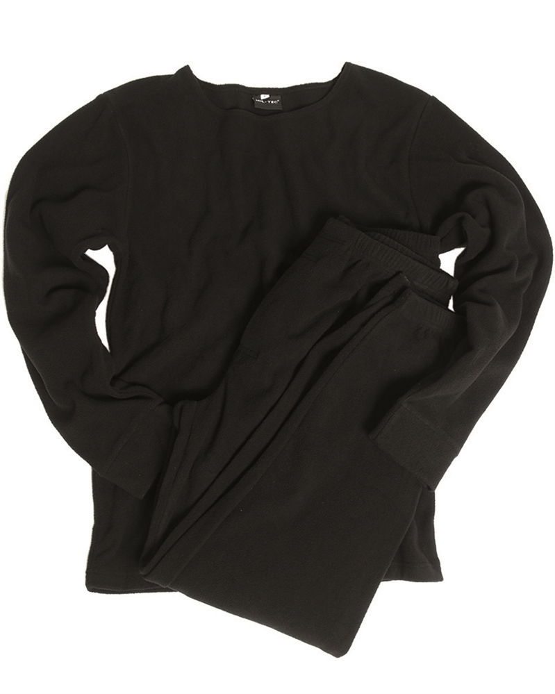 Thermo ondergoed Fleece set zwart