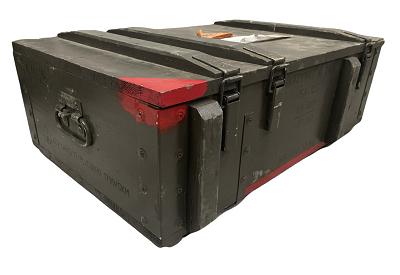Legerkist hout 125-A81 origineel !