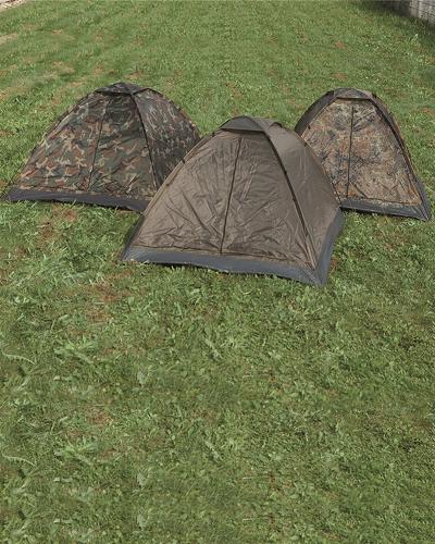 Tent camouflage Basic 3 persoons of 2 en veel bagage !