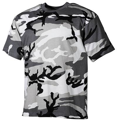 Camouflage T-shirt Urban  van 100% katoen