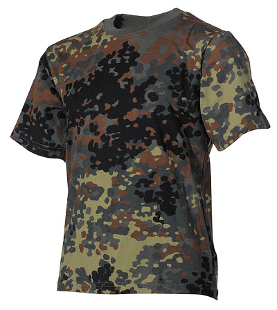 T-shirt Junior Camouflage Flecktarn