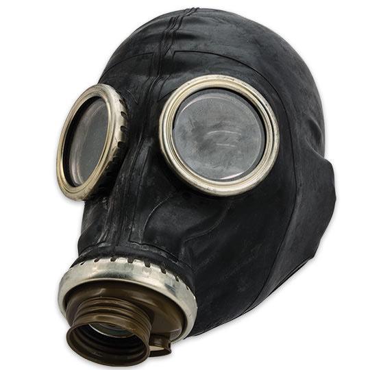 Russisch gasmasker zwart en grijs ACTIE ! zonder filter