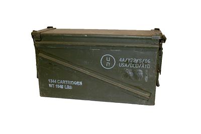 Munitiekist, staal 40 mm cartridges Aktie 2 voor € 50,00 !