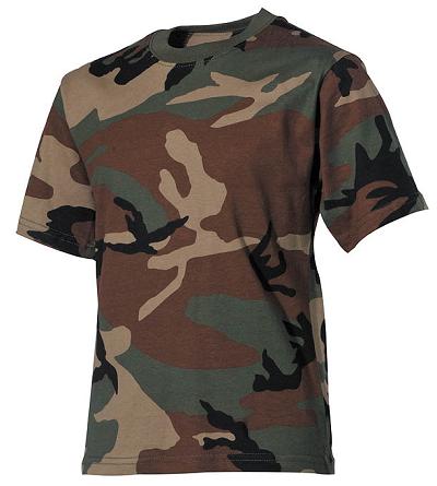 T-shirt Junior Camouflage Woodland
