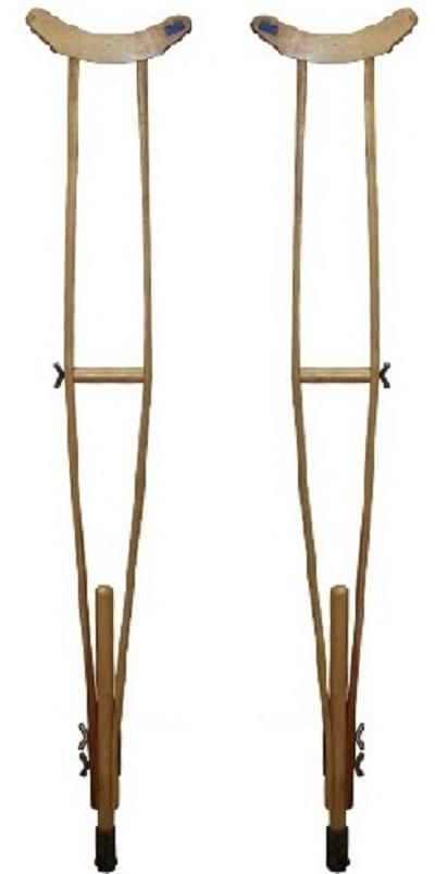 Krukken houten leger krukken verstelbaar