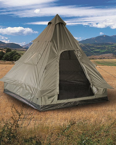 "Tipi Pyramidetent Olive 4 persoons ""Tipi"""