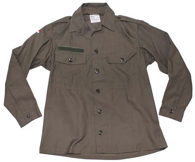 BDU shirt KLU groen, origineel