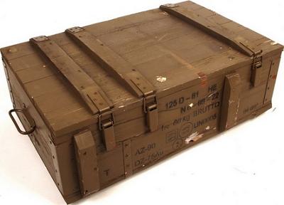 Legerkist hout 125-D-81 origineel !