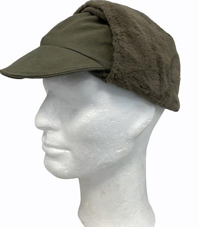 Bontmuts Winter pet met oorwarmers groen KL