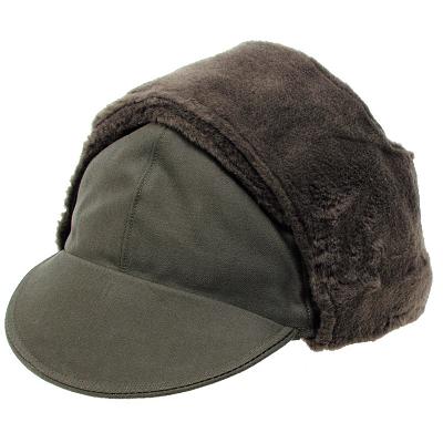 Bontmuts Winter pet met oorwarmers groen KLU