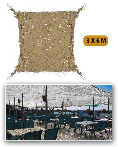 Zonnenet schaduwnet camouflagenet desert 3x6