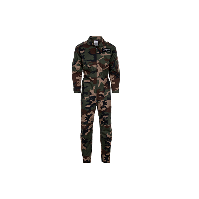 """Kinder leger overall  """"Top Gun """" camouflage woodland"""