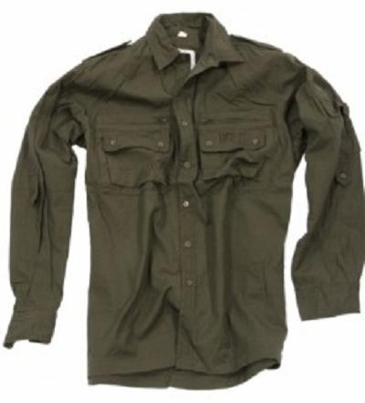 Ribstop outdoor overhemd Olive