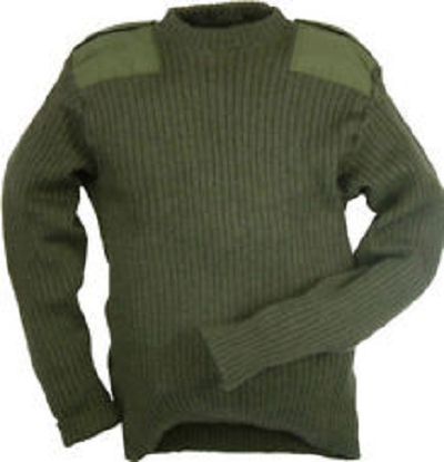 Commando Leger Trui NL/UK 100% Wol Nieuw