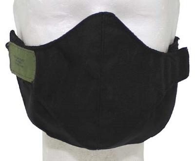 Mond beschermingsmasker Airsoft,  Zwart