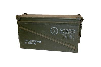 Munitiekist, staal 40 mm cartridges AKTIE !