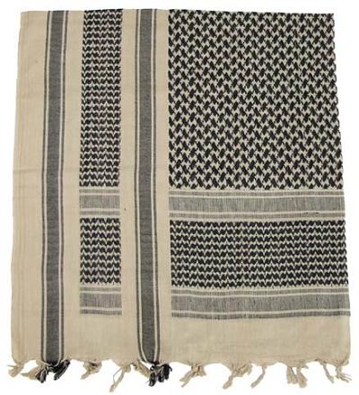 Shemag - PLO sjaal sand-black