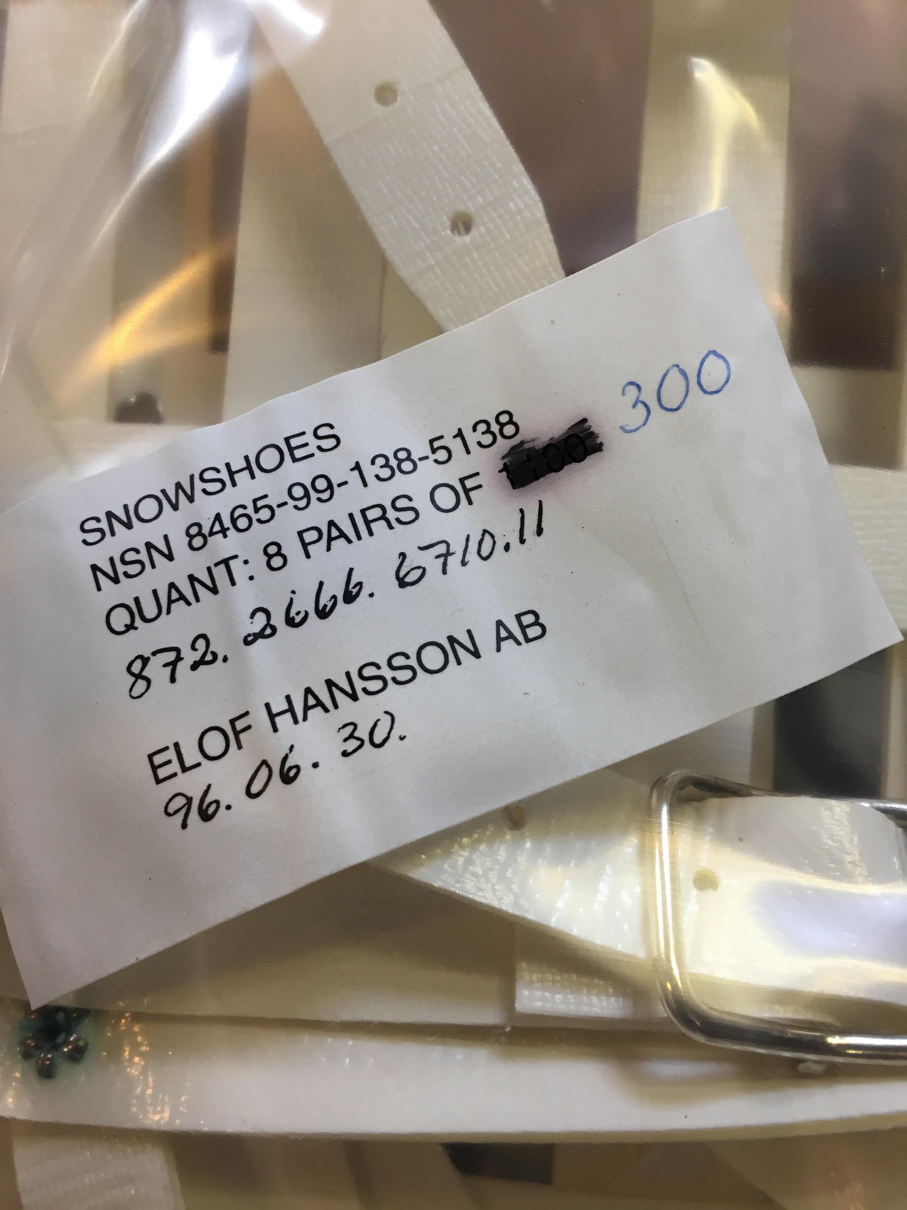 Sneeuw schoenen Made in Sweden