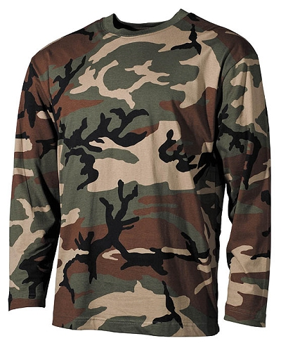 T-shirt Leger lange mouw US  Long Sleeve Woodland