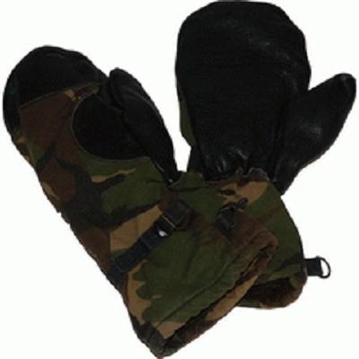 Wanten met leer  NL leger gebruikt