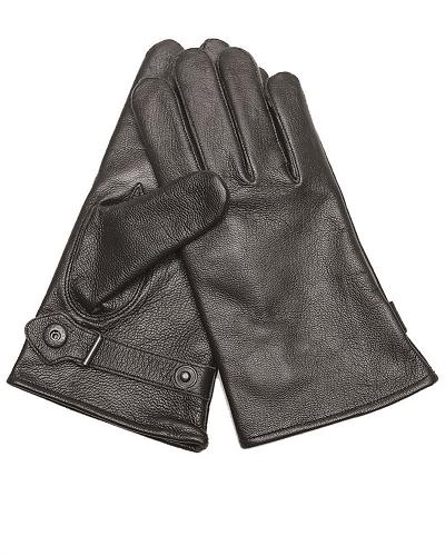 Leger handschoenen leder BW black