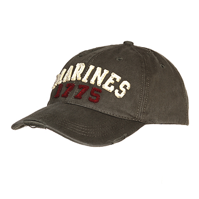 Baseball cap stone washed Marines 1775
