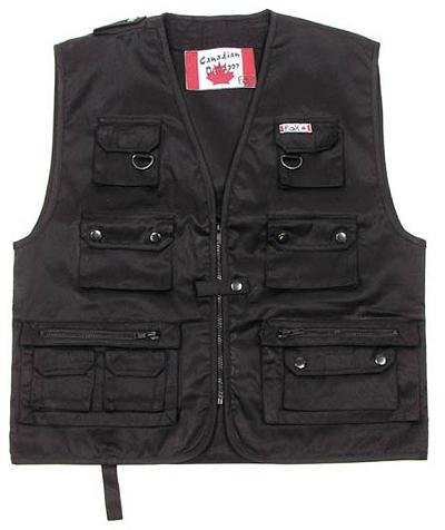 Canada Outdoor vest Vliegvisvest Black