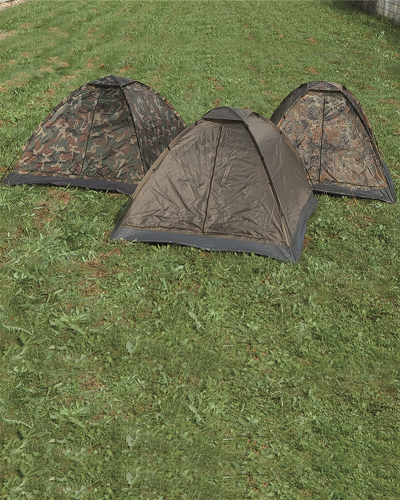 Tent camouflage Basic 3 persoons of 2 en veel bagage !