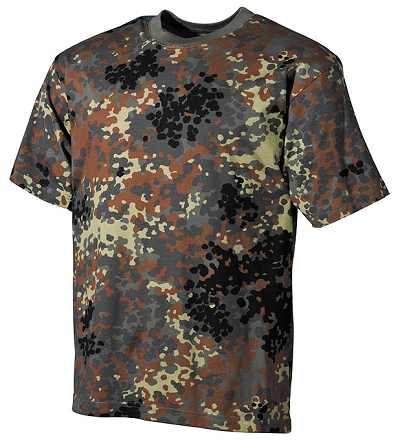 US Leger Camouflage  T-shirt Flecktarn Top kwaliteit !