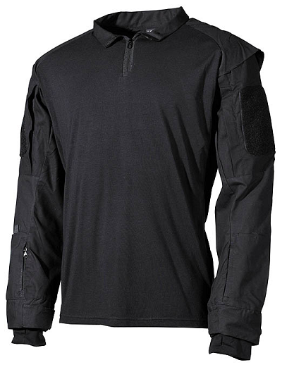 US Tactical Combat shirt zwart