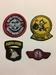 Emblemen USAF stof  4 stuks mini +/- 6cm doorsnede