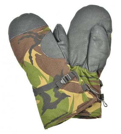 Wanten met leer origineel NL leger NIEUW